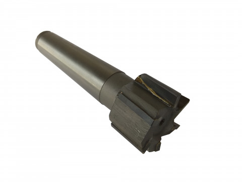 Фреза концевая с напайными т/с пластинами ф 50 мм Т5К10 прямой зуб z=6 Lраб=40 мм КМ5