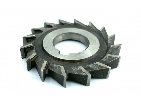 Фреза дисковая трехсторонняя ф 100х16х32 мм Р6М5 прямой зуб цельная