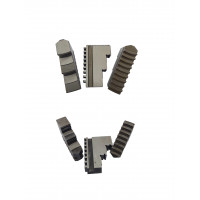 Кулачки прямые к патрону токарному ф200 3-х кул. шаг 8мм,ширина 28 мм, паз 10 мм